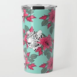 Stylish leopard and cactus flower pattern Travel Mug