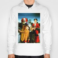 mary poppins Hoodies featuring PENNYWISE IN MARY POPPINS by Luigi Tarini