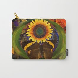 Butterfly and the Flower Carry-All Pouch