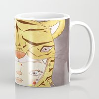 hiccup Mugs featuring DRUNKEN TIGAAAAR by PAUL PiERROt
