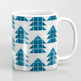 Blue spruce trees in the winter forest  Coffee Mug