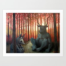 The Armadillo and the Bull Art Print
