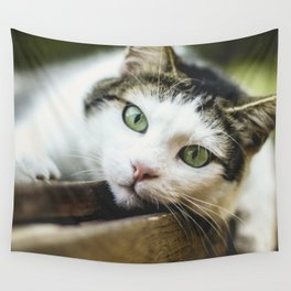 Cat by Nicolas Picard Wall Tapestry