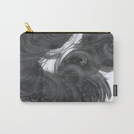 Running in cycle, Abstract, Black & White Carry-All Pouch