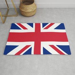 red white and blue trendy london fashion UK flag union jack Rug