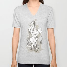 My Wand Is A Pencil Unisex V-Neck