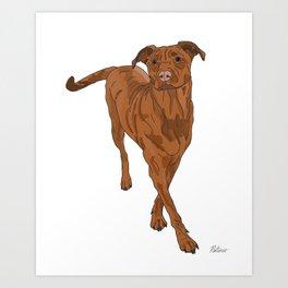 Dog Portrait 2 Art Print