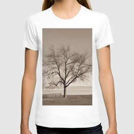 Lakeside Winter - Sepia T-shirt