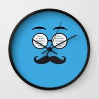 geek Wall Clocks featuring Geek by Nora