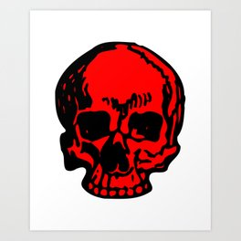 Red Pirate Skull, Vibrant Skull, Super Smooth Super Sharp 9000px x 11250px PNG Art Print