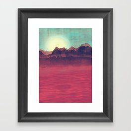 Distant Mountains Framed Art Print