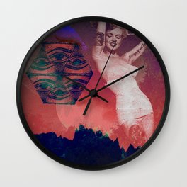 False Colored Eyes Wall Clock