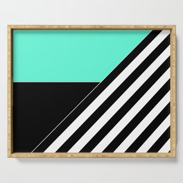 Asymmetrical patchwork 2 Serving Tray