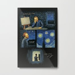 Vincent Van Gogh Inspirational Quote: The sight of the stars Metal Print