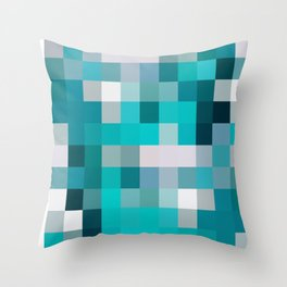 blue,gray,navy squares(sea colors) Throw Pillow