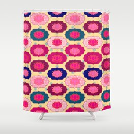 Lotus pattern Shower Curtain