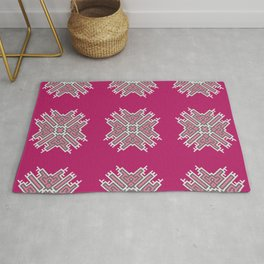 Cross Study In Pink and Grey Rug