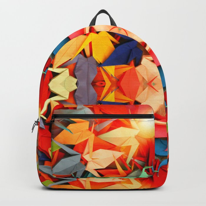 Senbazuru rainbow Backpack