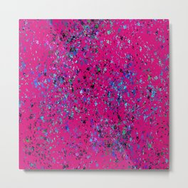 """Formica""  Digital Design in Hot Pink Metal Print"