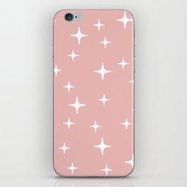 Mid Century Modern Star Pattern 443 Dusty Rose iPhone Skin