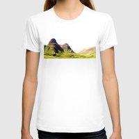 scotland T-shirts featuring glencoe panorama landscape, scotland. by zenitt