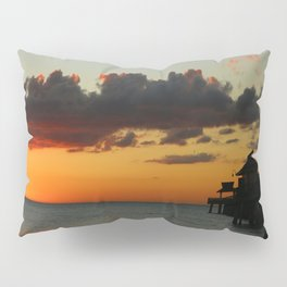 Naples Pier Sunset Pillow Sham