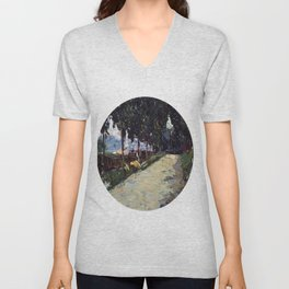Park in St. Cloud, 1605, Old Masters Collection, Wassily Kandinsky Unisex V-Neck