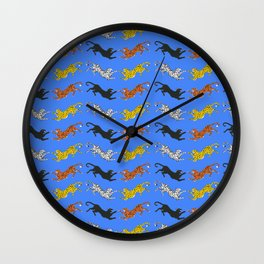 Big Cat Pattern Wall Clock