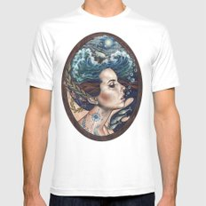 Lost At Sea Mens Fitted Tee MEDIUM White