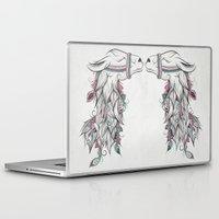 llama Laptop & iPad Skins featuring Llama by LouJah