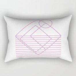Goemetric sunset in pink Rectangular Pillow
