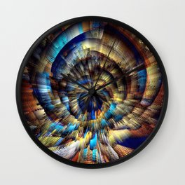 Into The Present Wall Clock