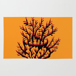 fire coral Rug