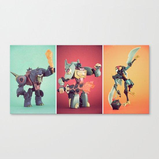 Dinobots Canvas Print
