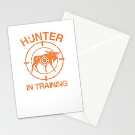Hunter In Training Hunting Exercise Target Elk Deer Stationery Cards