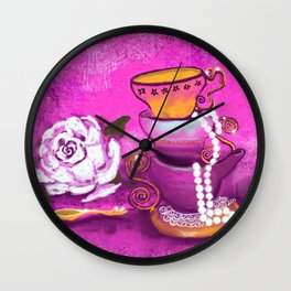 Cups and Pearls Wall Clock