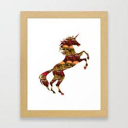 Junk Food Unicorn Unhealthy Foods Magical Unicorn Framed Art Print