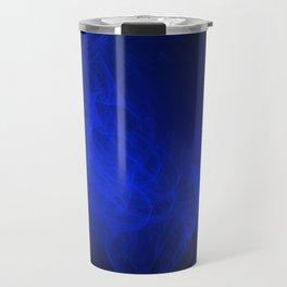 Blue smoke, fractal abstract art Travel Mug