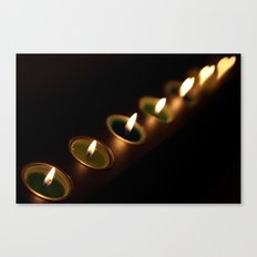 heart candles Canvas Print