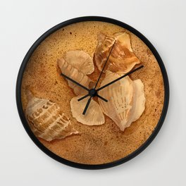 Shells in the Sand Wall Clock