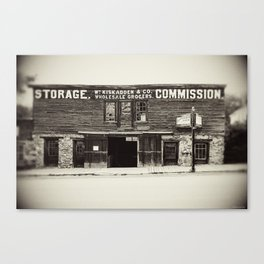 Ghost Town Architecture Canvas Print