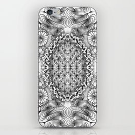 Black and White Zentangle Tile Doodle Design iPhone Skin
