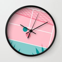 Jock - tennis sport retro neon throwback palm springs los angeles hollywood california sunny pop art Wall Clock