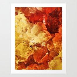 Red & Gold Art Print