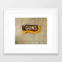guns Framed Art Prints featuring Guns by Roadhouse Relics