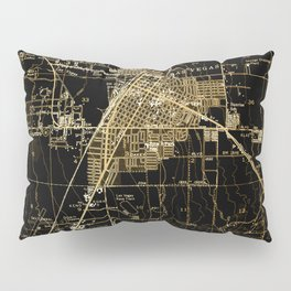 Las Vegas antique map, year 1952 Pillow Sham