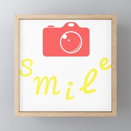 Smile | Sonríe Framed Mini Art Print