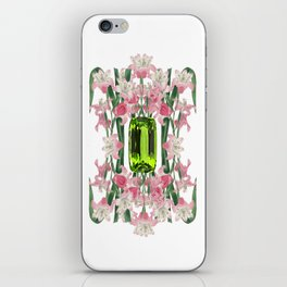 AUGUST/ Birth Stone & Flower iPhone Skin