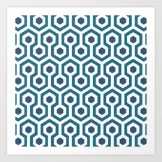 Retro Carpet Art Print
