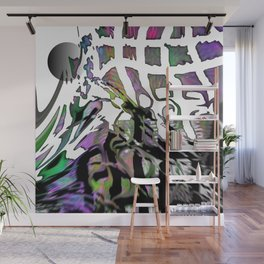 Distortion of the line Wall Mural